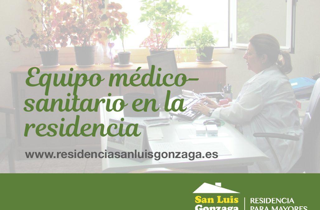 EQUIPO MÉDICO-SANITARIO EN LA RESIDENCIA
