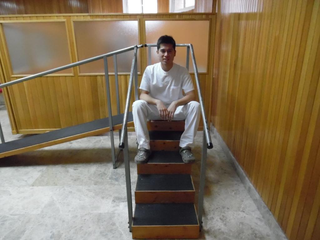 Christian en el gimnasio del centro