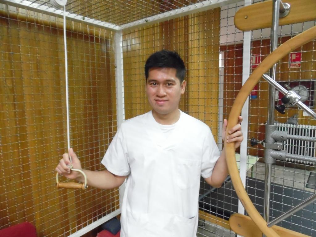 Christian, fisioterapeuta de Residencia San Luis Gonzaga.