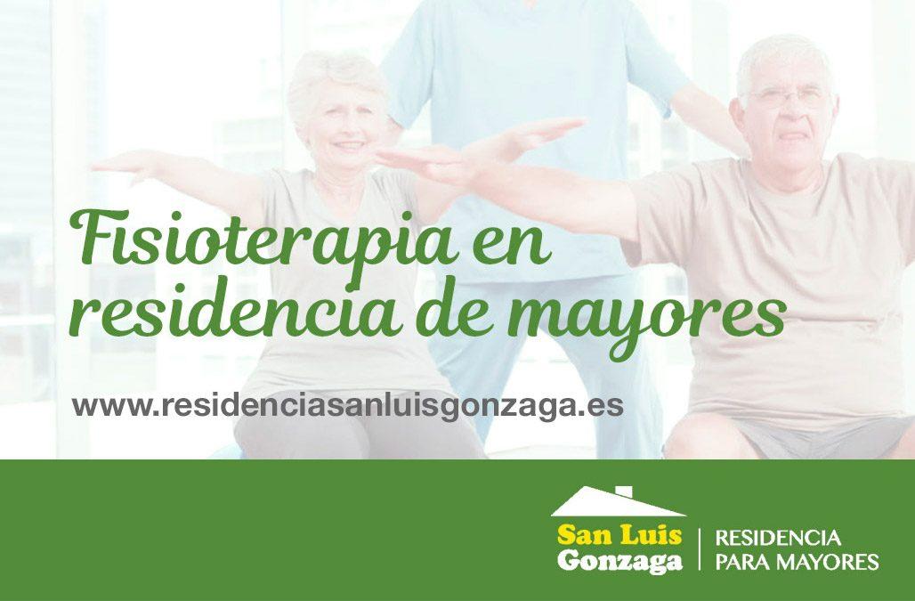 FISIOTERAPIA EN RESIDENCIA DE MAYORES