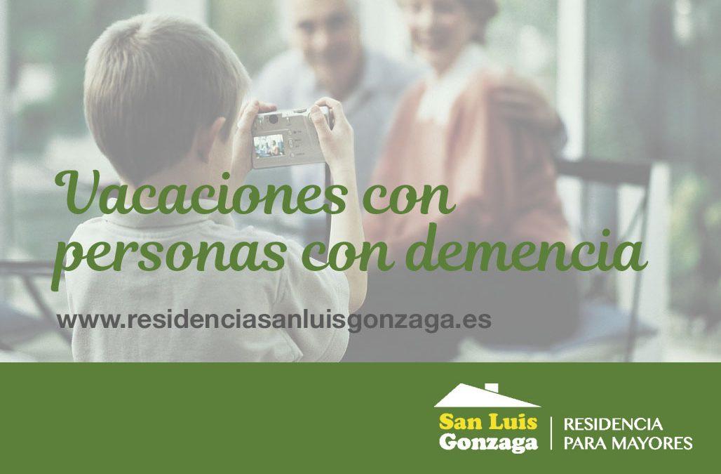 VACACIONES DE PERSONAS CON DEMENCIA